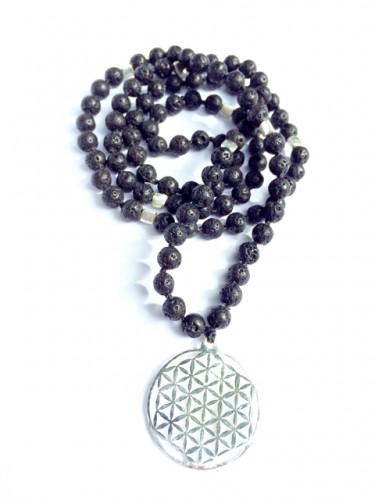 flower of Life Lava Mala